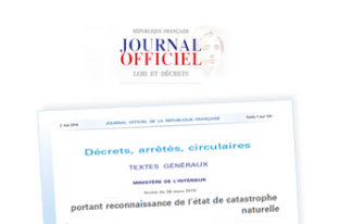 Parution au journal officiel