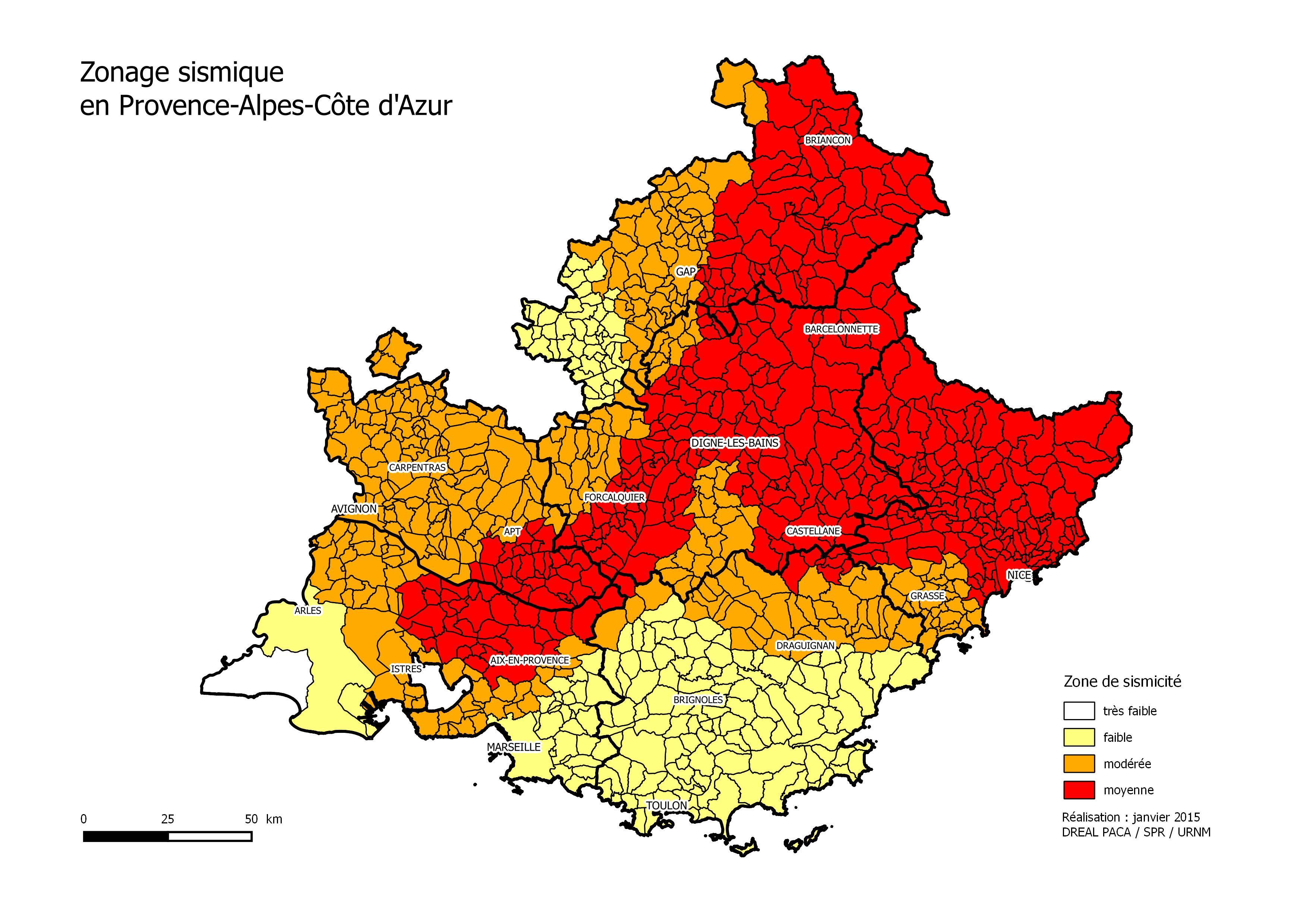 Le ph nom ne s isme les risques naturels le dossier for Les bouches du rhone